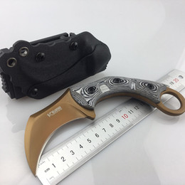 Bellwether Claw Karambit D2 Blade G10 58HRC Outdoor Tactical Camping Hunting Survival Pocket Knife Military Utility Gift EDC Tools