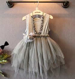 Fashion version of the princess veil applique render children vest dress children's clothing factory direct sale