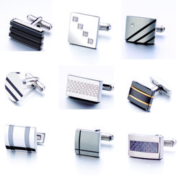 Men's fashion Stainless Steel Cufflinks for Classic Wedding Business