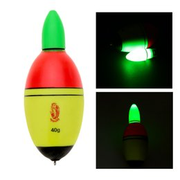 Fishing Float EVA Electronic Light Bobber with 2 Button Cells Fishing Tackle Y1316-40