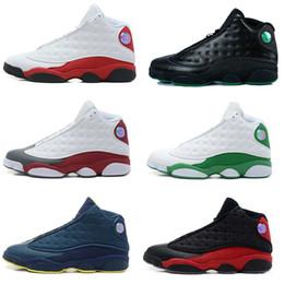 Promotion chaussures de sport pas cher Chaussures de basket-ball rétro XIII 13 CP3 rétro rétro de chaussures de basket-ball des hommes d'espadrille d'athlétisme de Sunstone d'or 13s noires rétro 13s