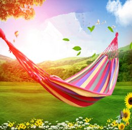 Yiwu company sales in Europe and the outdoor leisure hammock tourism single camping hammock B286 feed tied the rope