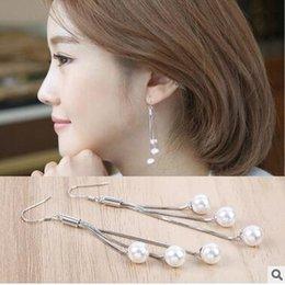 S925 sterling silver tassel earrings female defensive temperament ladies earrings