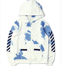 Free Shipping Kanye West Fear of God White Hoodies OFF WHITE Sport Hoodie Justin Bieber Chris Brown GD Hip hop