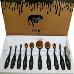 Promotion outils gratuits d'expédition Nouveau Kylie Set de brosse cosmétiques Noir Kylie outil de brossage de maquillage Popularité Select Professional Tools Livraison gratuite