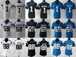 Descuento soltar la leva La leva Newton # 59 Luke Kuechly de los jerseys # 1 de las mujeres # 88 Greg Olsen cosió el envío de la gota libre de los jerseys