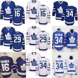 Wholesale 2016 New Season Toronto Maple Leafs Jersey William Nylander Auston Matthews Mitchell Marner Hockey Jerseys Best Quality M XL