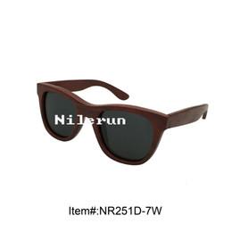 luxury grey polaroid TAC lenses red wood frame sunglasses