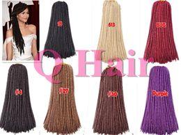 Free Shipping Jenet Collection 24 strands Fauxlocs Braid Crochet Hair 18Inch 2X Havana Mambo Twist Dread Dread Faux Locs Braids