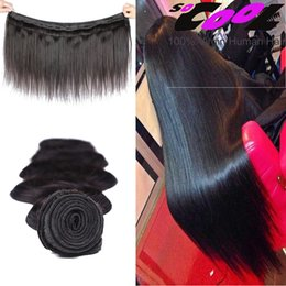 Teñidos haces de pelo de malasia en venta-300g de pelo de la Virgen de Malasia recta 3 paquetes 8A Grado 100% mano superior de pelo humano seleccionado puede ser teñido blanqueado