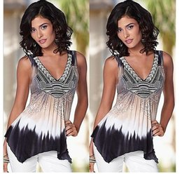PT131 summer tops t shirt women blouse sexy off shoulder v-neck tie dye