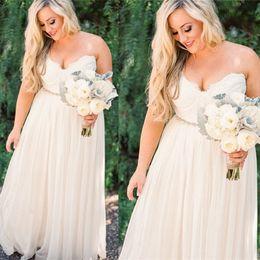 Cheap Plus Size Wedding Dresses 2017 Sweetheart Vestidos De Novia A Line Chiffon Western Style Handmade Bridal Gownws