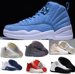 2017 Retro 12 Basketball Shoes Sneakers Men Women Taxi Playoffs Gamma Grey White Replicas Sports Retro J12s XII Shoes