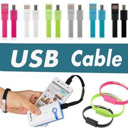 Compra Online Cargos cables iphone-Los datos micro de la pulsera del cable del USB del Wristband de calidad superior cargan la línea para el androide 5 5S 6 6S del teléfono móvil más el envío libre DHL 200PCS