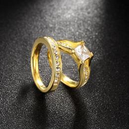 2017 bague de fiançailles en titane or Aimer l'anneau plaqué or pour les femmes budget bague de fiançailles en titane or