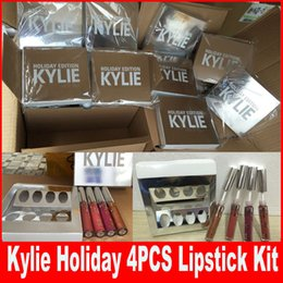 Wholesale KYLIE Holiday Edition lip gloss Kit Holiday Edition kylie MATTE LIQUID lip gloss matte lipstick kylie jenner collection set Christmas gift