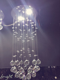 Wholesale Direct manufacturers led long crystal pendant lamp lamp bar restaurant counter home decoration