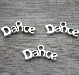 30pcs-Dance Charms, Antique Tibetan Silver Tone dance charm pendants 9x20mm