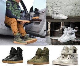 Wholesale Newest Casual Men Woman High Quality Trainers Air Special Forces Black Gum Light Brown Faded Olive Beige Linen Sneakers Boots