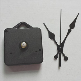 Wholesale DIY Quartz Clock Movement Kit Black Clock Accessories Spindle Mechanism Repair with Hand Sets Shaft Length Best