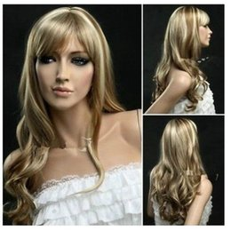 New Fashion mix blonde long Wavy Cosplay Wig FREE SHIPPING