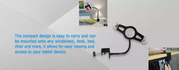 Wholesale Hot selling Ipad holder gooseneck Flexible Long Arm Seat Desk Bolt Clamp Mount Bracket Holder with Degrees Easy Adjust Ipad Tablet pc