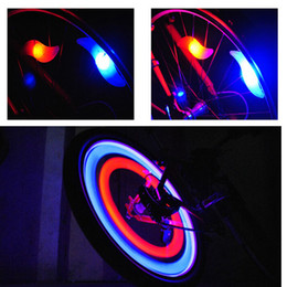 New Bike Bicycle LED Wheels Spokes Lamp wheel Lights Motorcycle Electric car Silicone 4 colors flash alarm light cycle accessories