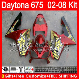 8 Gifts 23 Colors For Triumph Daytona 675 02 03 04 05 06 07 08 Daytona675 red 4HM9 Daytona 675 2002 2003 2004 2005 2006 2007 2008 Fairing