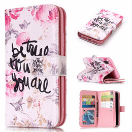 For iphone X 7 8 Plus 9 Card slots Wallet Pu Leather Case Kickstand Dog Flower Butterfly Feather Tower Leopard For Samsung S7 edge S8 S9