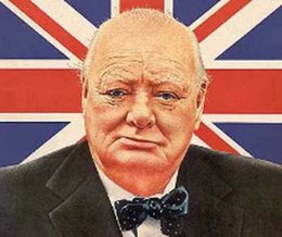 Wholesale Flag of United Kingdom Sir Winston Churchill World War genuine Pure Handpainted Portrait Art oil Painting On Thick Canvas Multi Size amaz