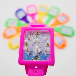100pcs / lot rompecabezas de juguetes juego de laberinto de reloj desde niños juegos niños proveedores