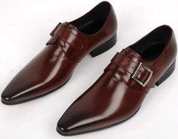 Promotion mens chaussures marron confortables Grandes tailles EUR45 Confortable Brown Tan / noir affaires chaussures hommes chaussures habillées en cuir véritable mens chaussures de mariage formelles