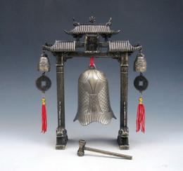 Ensemble En Métal Arc Chinois FENG SHUI Carpe Poisson Dragon Carillon Cloches Gong Décor À La Maison cadeau en métal artisanat