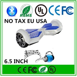 FREE TAX EU USA Hover Board Bluetooth Speaker 6.5 inch Two Wheels Balancing Wheel Skateboard LED Scooter Smart Electric Self Balance Scooter