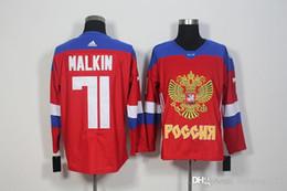 71 Maklin Jerseys del balompié 2016 de los nuevos de las llegadas de los hombres de Rusia WCH del hockey del hielo del hockey del hielo de la Copa del mundo de los jerseysFree Minging1225 desde maillot olímpico rusia proveedores