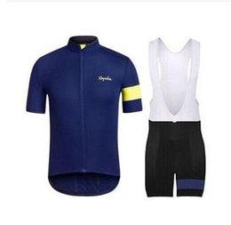 Promotion cuissard vente Hot Sale Rapha Cycling Jerseys Sets Cool Bike Suit Bike Jersey Breathable cyclisme à manches courtes Bib Shorts Mens Vêtements de cyclisme