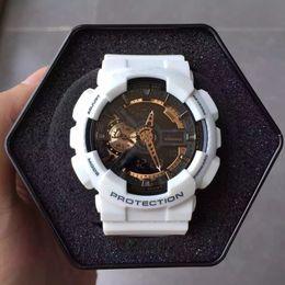 Wholesale 2017 Мужские марки роскошные спортивные часы с металлической коробкой Наружные многофункциональные наручные часы G Мужские часы с ударом часов из Китая kol saati
