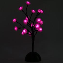 Купить Онлайн Цветковые деревья-Творческий 2W Роуз цветок светодиодные дерево свет украшения лампы DIY моделирование огни Светодиодные настольные лампы для украшения