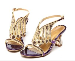 Sandals female summer 2017 new sandals with studded leather high heels and sexy han edition in diamond thick with shoes