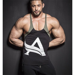 tops sport homme sans manches Promotion New Fashion Men Spandex Bodybuilding Gyms Sporting Tank Top Fitness Stringer Singlet sans manches Tops Casual Workout Tops