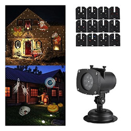 Wholesale Christmas Projector Light Replaceable Lens Colorful Patterns Halloween Birthday Wedding Outdoor Landscape Laser Lighting Lawn Lamp