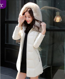 Wholesale M XL winter New genuine leather women s fashion medium long down coat plus size sheepskin with a hood slim down jacket