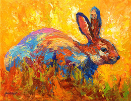 forest-rabbit-ii-marion-rose Giclee bison head color study oil painting arts and canvas wall decoration art Oil Painting on Canvas