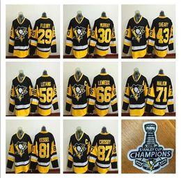 Wholesale 2016 Stanley Cup Champions Pittsburgh Penguins Sidney Crosby Phil Kessel Evgeni Malkin Patric Hornqvist Cheap Hockey Jerseys