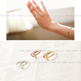 Wholesale 925 sterling silver ring hollow opening cross Collectibles Korean hollow ring