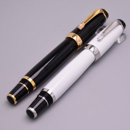 Wholesale Luxury Bohemia Series White Black Roller Ball Pen High Quality Office School Supplies Hot Sale Canetas Brand Writing Pens Gift