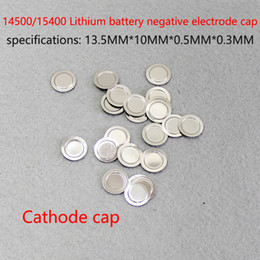 100pcs Lot 14500 lithium battery can be spot cap NiMH stainless steel negative negative film negative ear battery accessories