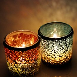 Wholesale Warm holiday gift candle lamp decorations mosaic garden beautiful fashion Home Furnishing supplies stable supply source of supply