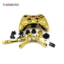 Wholesale New Arrival Hot Gold Chrome Replacement Shell Case Cover Mod Button For Xbox Wireless Controller Wireless