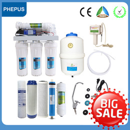 Wholesale PHEPUS Stages Under Sink Under house Reverse Osmosis Water Filter Water Purifier with Water ph quality test portable monitor chlorine test
